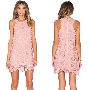 Lovers + Friends Pale Pink Caspian Lace Dress